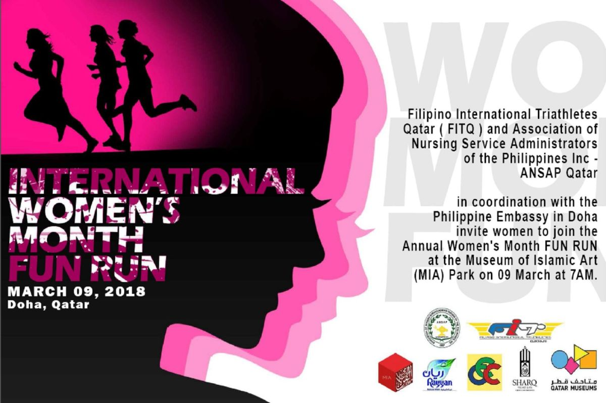 International Women's Month Fun Run: March 9, 2018